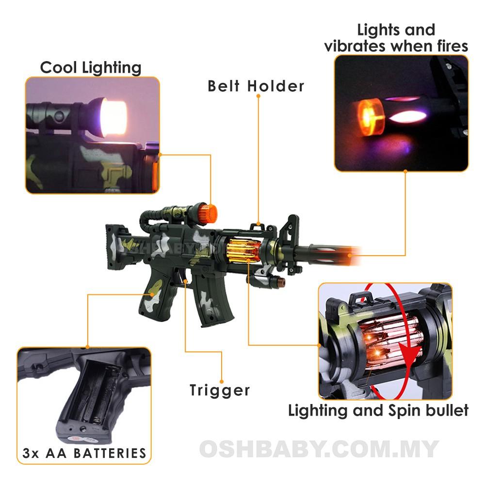 Osh Electric Machine Gun Sound Light Shopee Malaysia