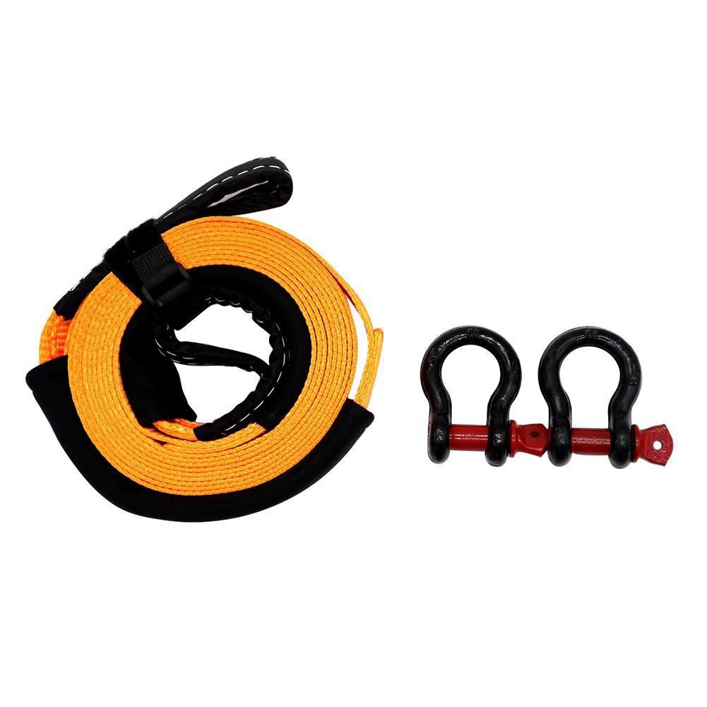 Abschleppseile Towing Trailer 5M Car Rope Strap Tow Cable with U-Shaped Hooks Heavy Duty 8 Tons