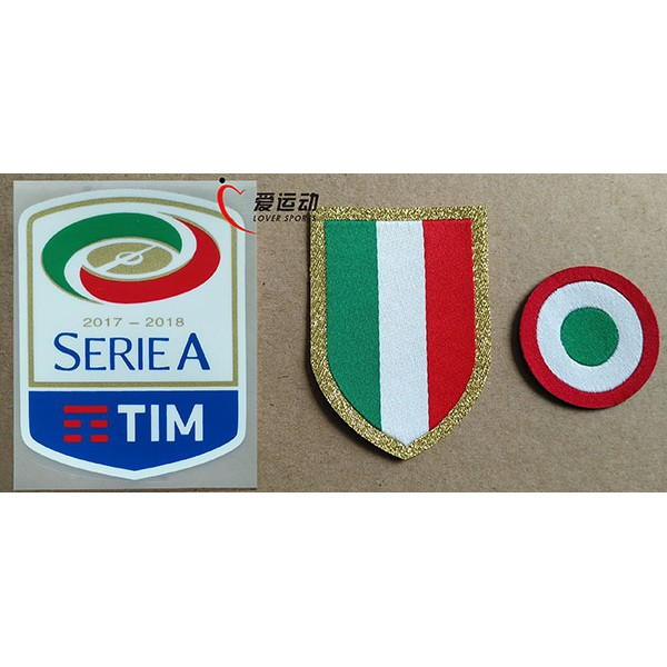 17 18 Juventus Serie A Patches Set Red Coppa Italia Circle Chest Scudetto Shopee Malaysia