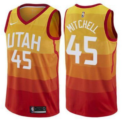 3ff2ba2d2b5 Utah Jazz  45 Donovan Mitchell Swingman City Edition Jersey