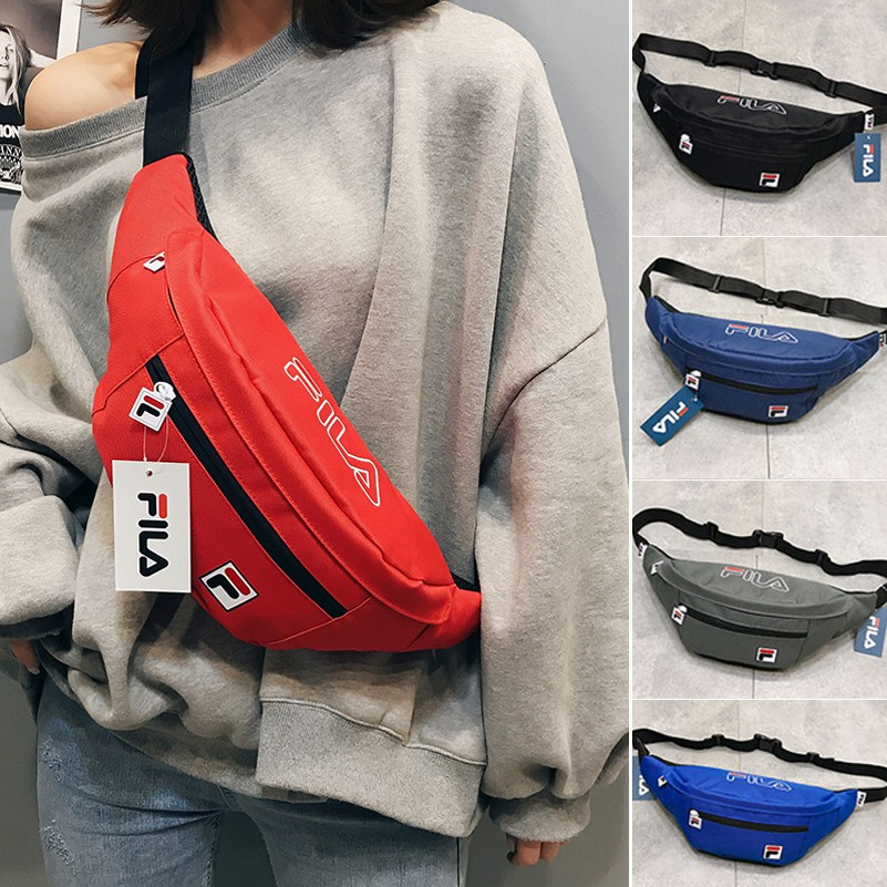 a952b723e985 FILA Waist Bag Waist Pouch Chest Bag Sling Bag Beg Silang Beg Nylon