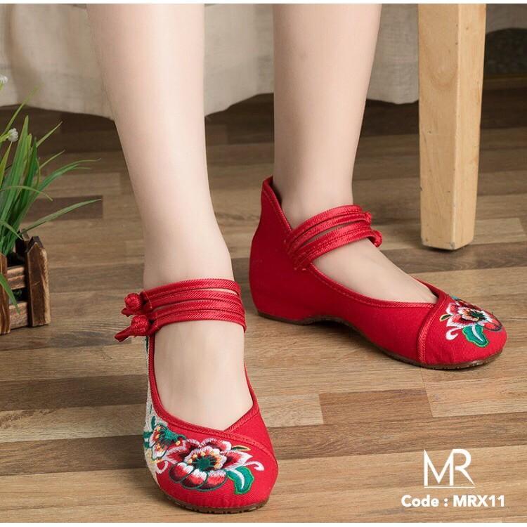 meritshoes X11 แดง รองเท้าปักสไต