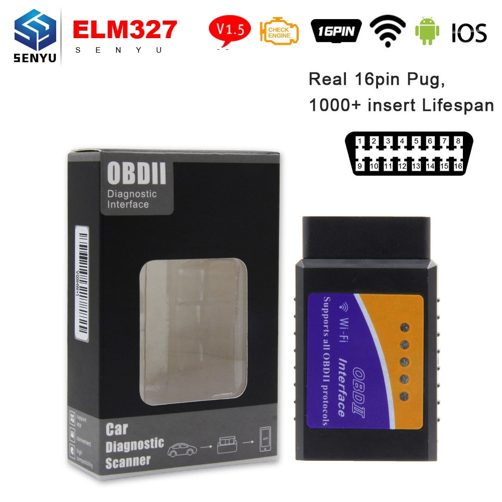 WIFI Support IOS Android Car Diagnostic Tool 16pin Obd Obd2 Diagnostic  Scanner