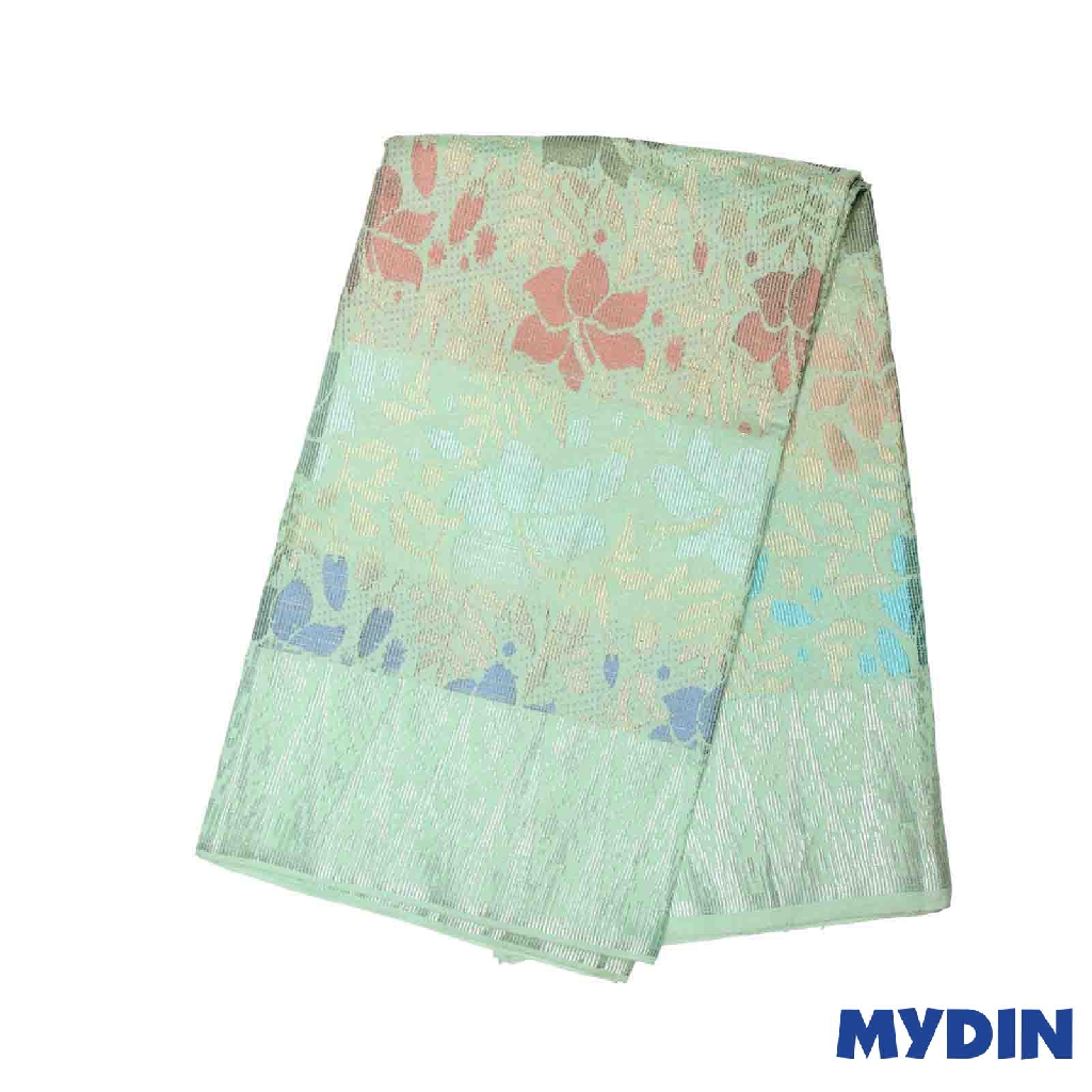 "Men Sampin - (D) Multicolor on Light Green with Hibiscus Designs (2.25m X 36"") 0819SRLHDD02 #Raya"