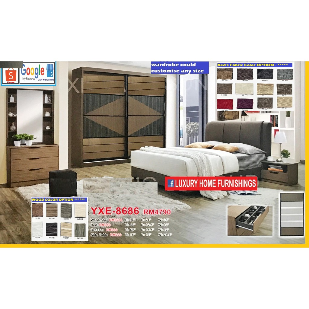 BED ROOM SET, 8'X8' FULL SET, EXCLUSIVE BIG SAVING LAUNCHING PROMOTIONS