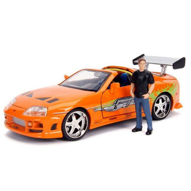 Jada 1:24 Fast /& Furious Dodge Charger R//T Toyota Supra Brian /& Dom Figures Set