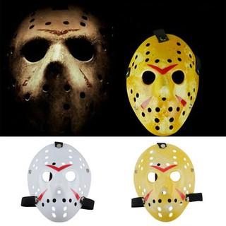 Halloween Jason Mask Cartoon.Jason Voorhees Scary Mask Prop Hockey Halloween Creepy Mask