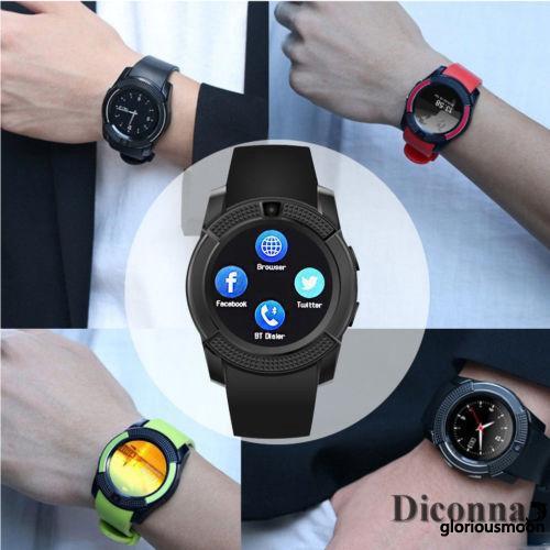 ROG-V8 Smart Watch Health Clock Fitness Bracelet Pedometer SIM GSM