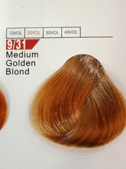Fabaole color (Medium Gloden Blond.9/31) 100ml foc peroxide cream 100ml(Medium Gloden Blond.9/31)