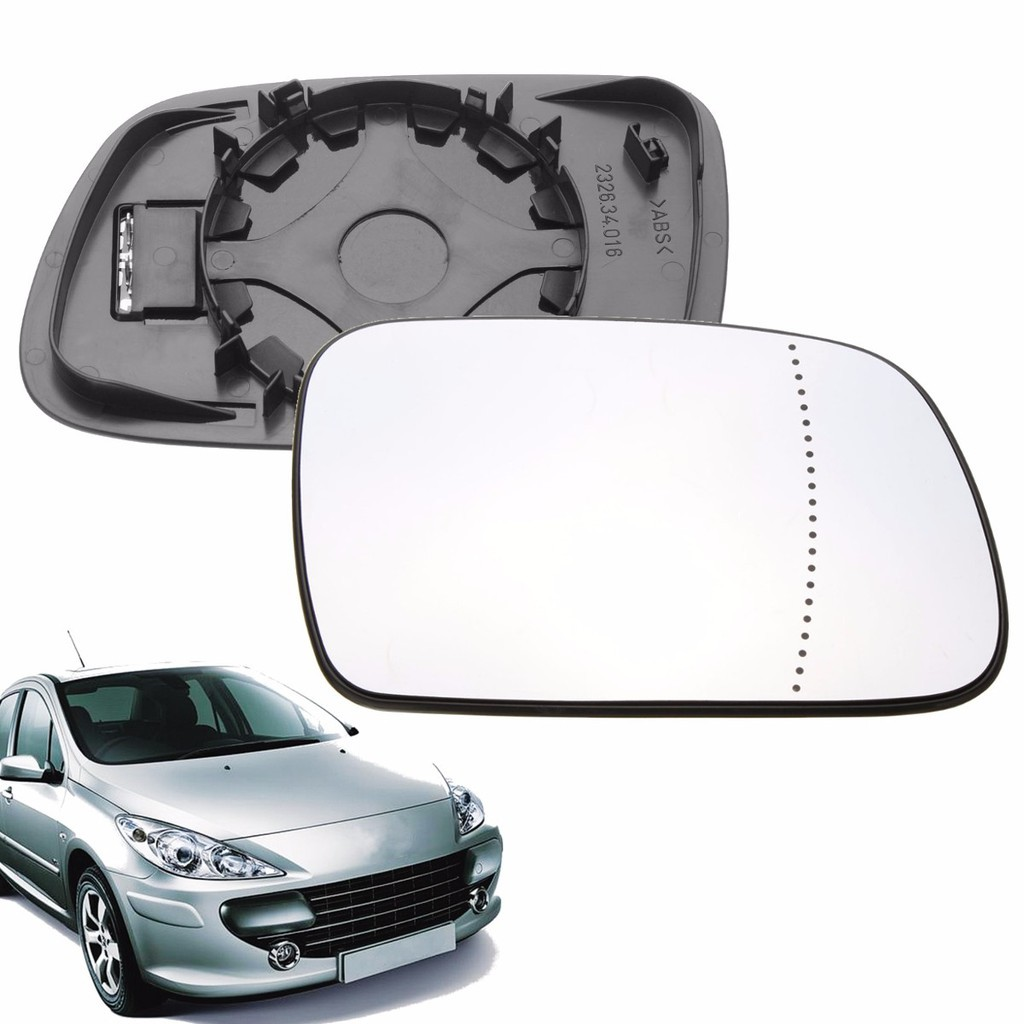 Right Driver Side WIDE ANGLE WING DOOR MIRROR GLASS For Peugeot 407 2004-2008