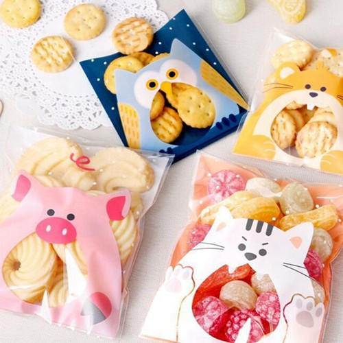 New 100pcs San-x Rilakkuma Food Grade Materials Bags for Gift Candy Cookie Bags