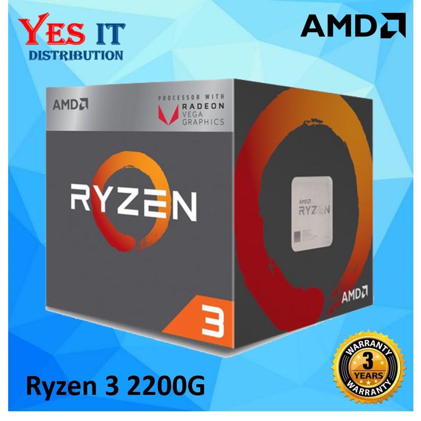 AMD Ryzen 3 2200G With Radeon Vega 8 Graphics Processor