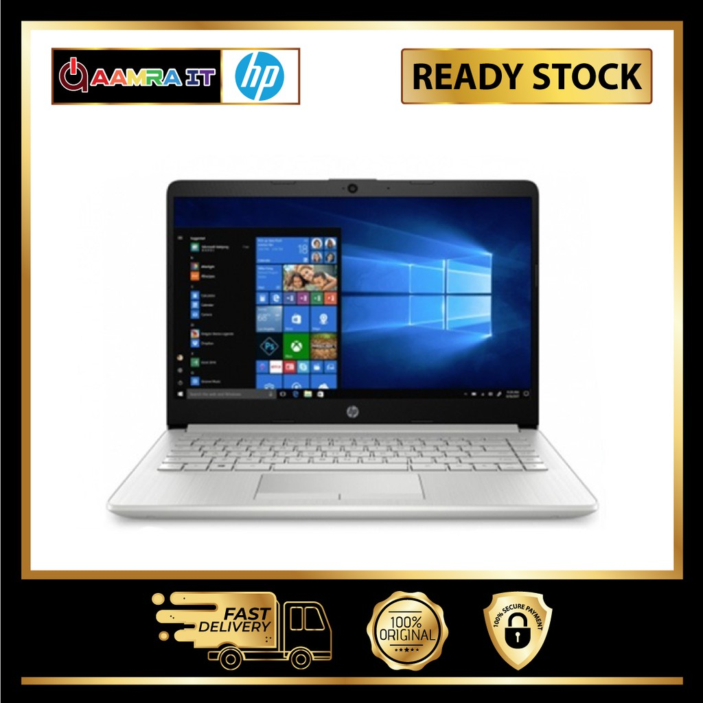 Hp Laptop 14s Dk0106au 14 Silver Amd A4 9125 4gb 128gb Ati W10 Shopee Malaysia