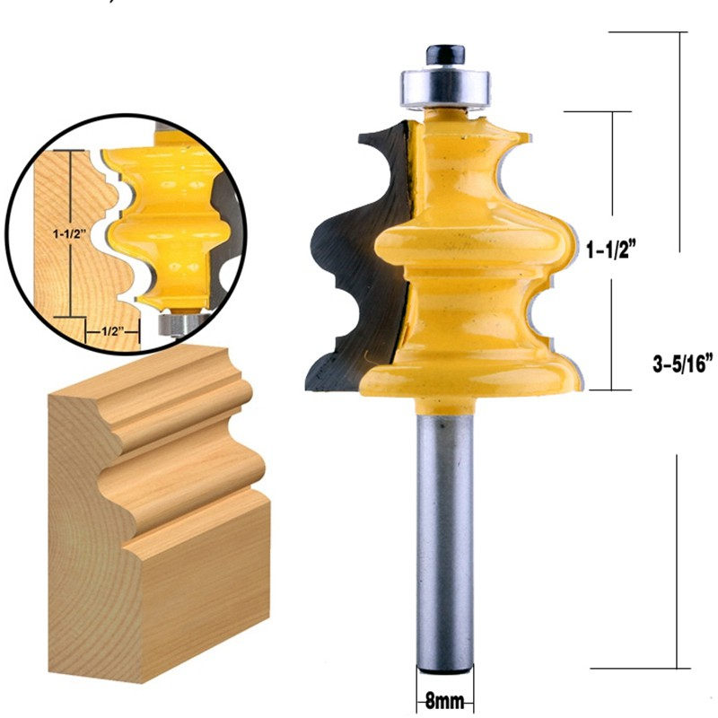 """1//2/"""" Shank Fish-shaped Router Bit Carving Mold Mill Cutter Woodwork Tool new"""