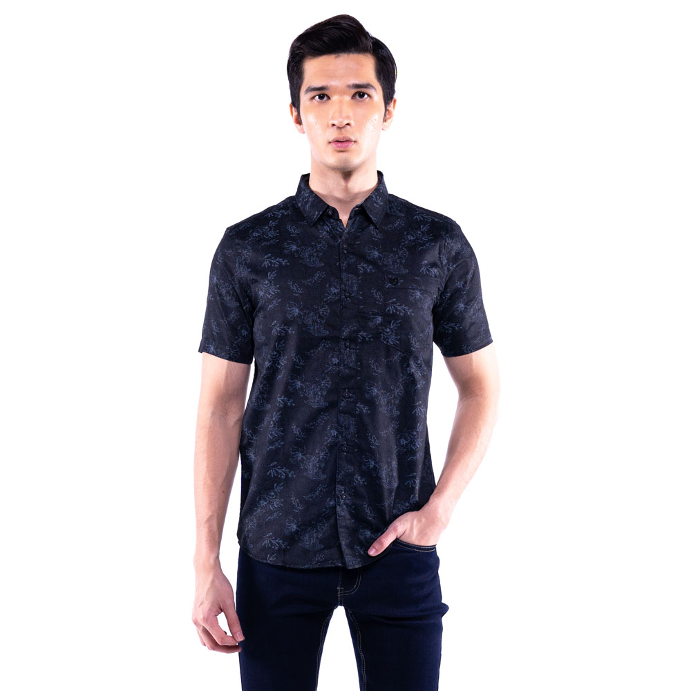 Rav Design 100% Cotton Woven Shirt Short Sleeve |RSS31453202
