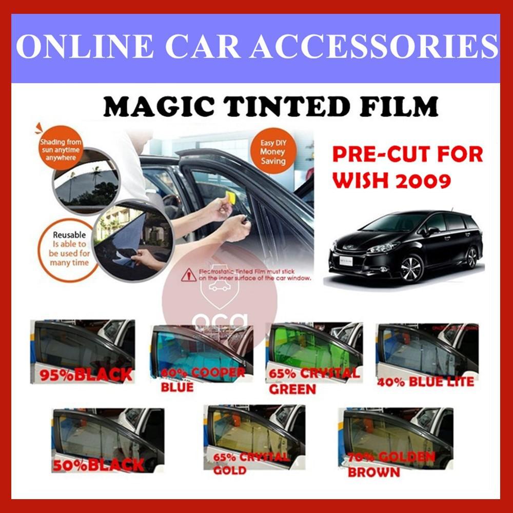 Toyota Wish 2009 - Pre-Cut Shape Magic Tinted Solar Tinted (4 Windows & 2 Triangle /4 Windows+Rear)
