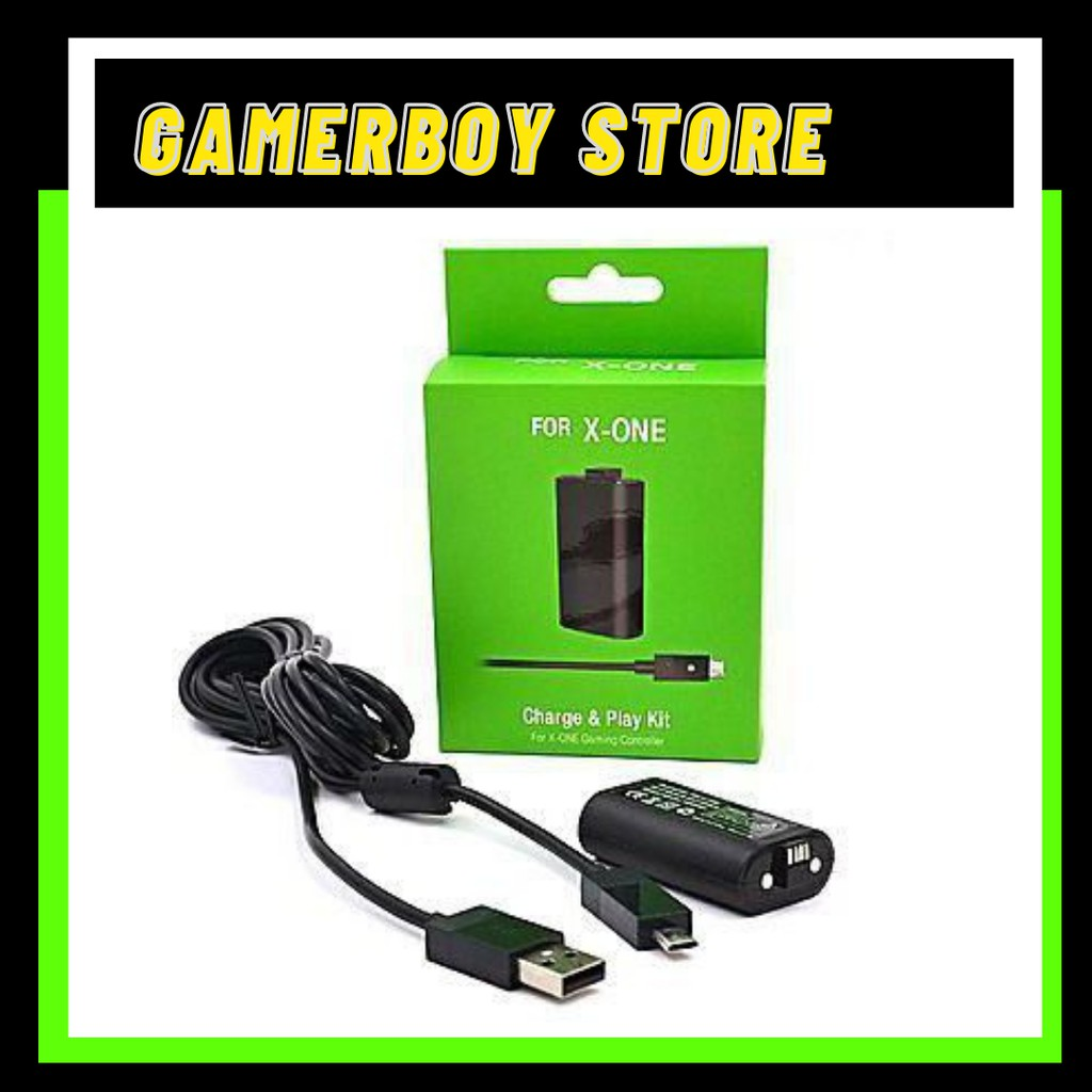 MICROSOFT XBOX ONE PLAY AND CHARGE KIT FOR CONTROLLER [BLACK] FOR XBOX ONE ONLY