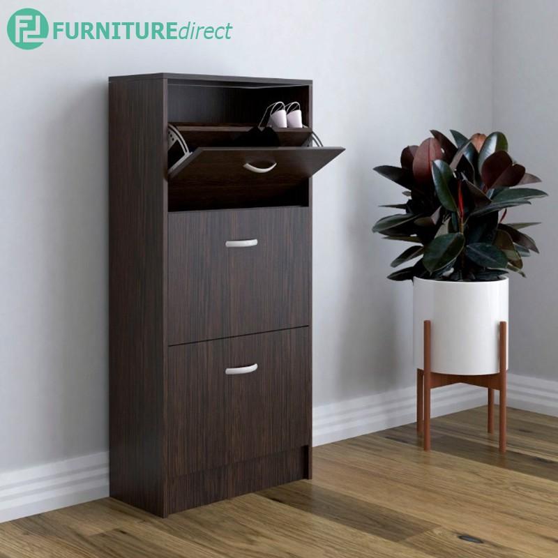 TAD PHILIPS space saver 3 door shoe cabinet/ rak kasut/ rak kasut bertutup