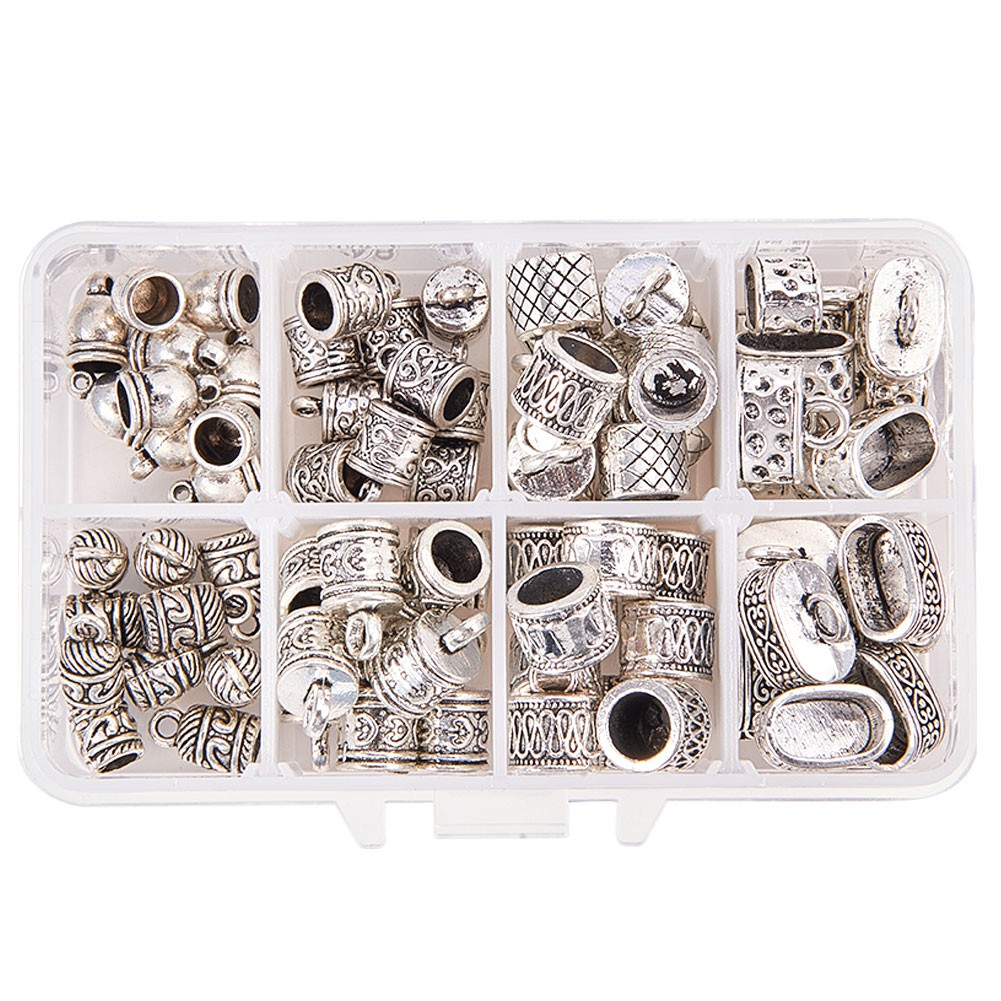 new Silver Plated Barrel Bead Leather Cord Ends Caps Findings  3 4 6 7mm 100Pcs