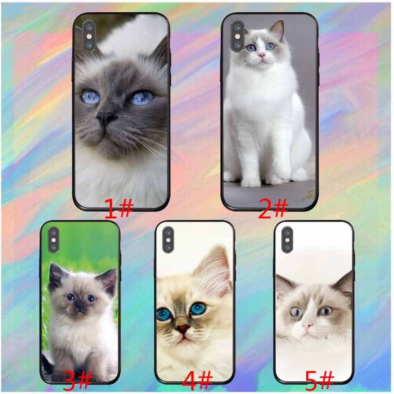 Pet Ragdoll Cat Blue Eyes Iphone 5c Xr Xs X 8 Se Soft Cover Shopee Malaysia