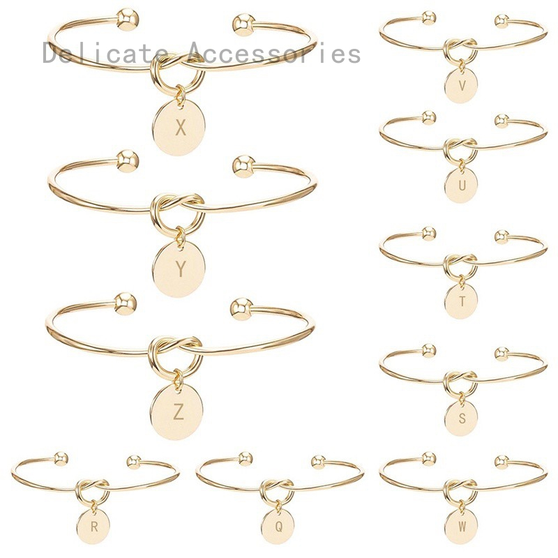 1f13d44ee9 Personalized Initial Knot Bracelet Monogram Bridesmaid Proposal Will You Be  My Bridesmaid Gift Bracelets & Bangles