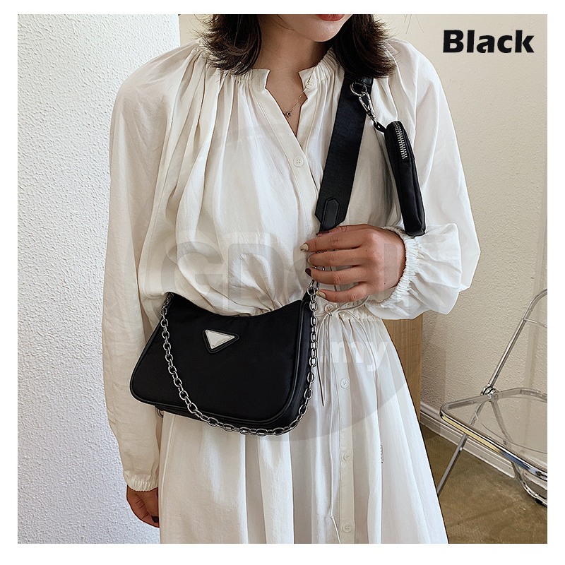 GDeal 2 In 1 Female Bag Fashion Western Style Handbag Chain One Shoulder Bag