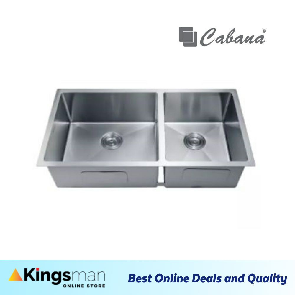 [Kingsman] Undermount Stainless Steel Home Living Cabana Kitchen Sink Double Bowl Ready Stock - CKS7307 Ready Stock