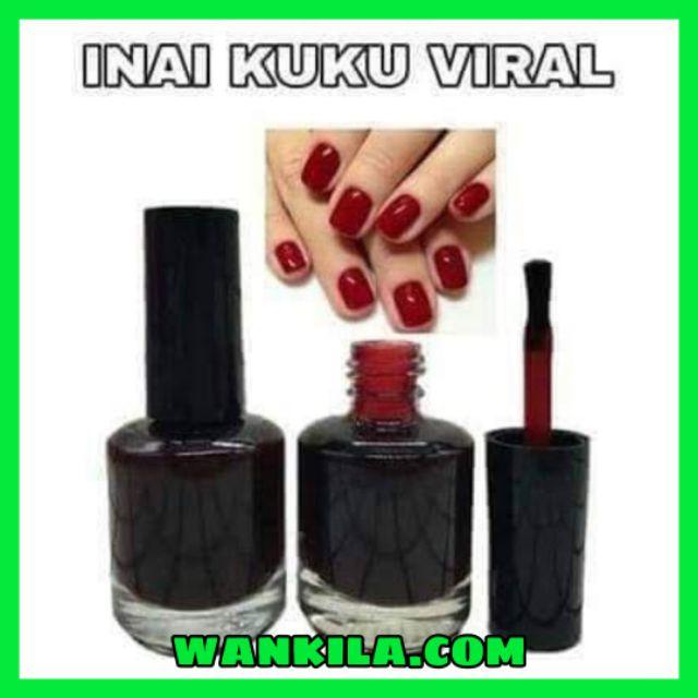Inai Kuku Viral Warna Merah Tahan Lama