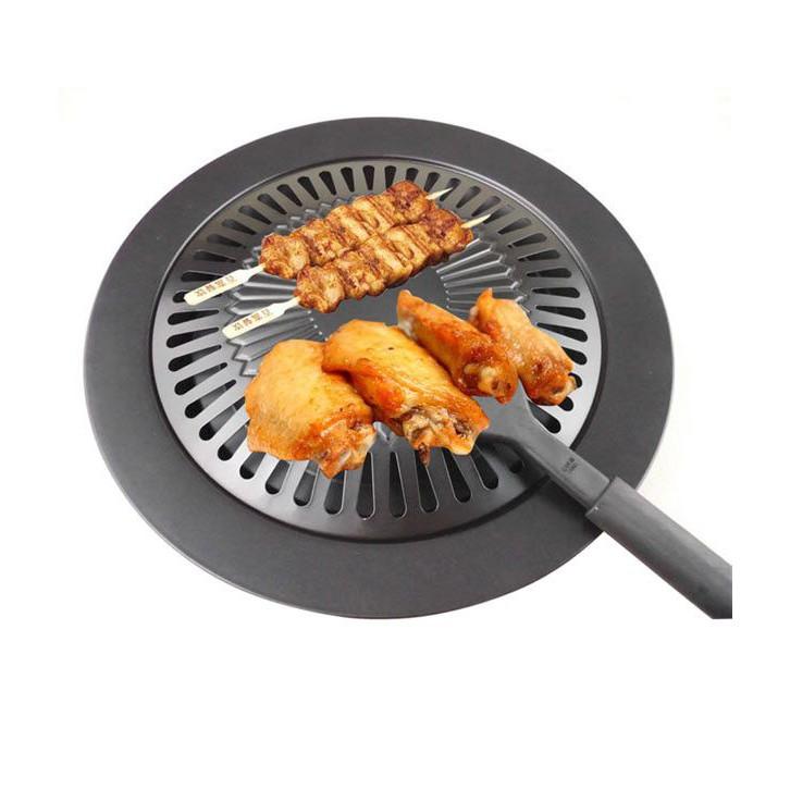 Korean Non-Stick Smoke Free Roast Plate for Grilling