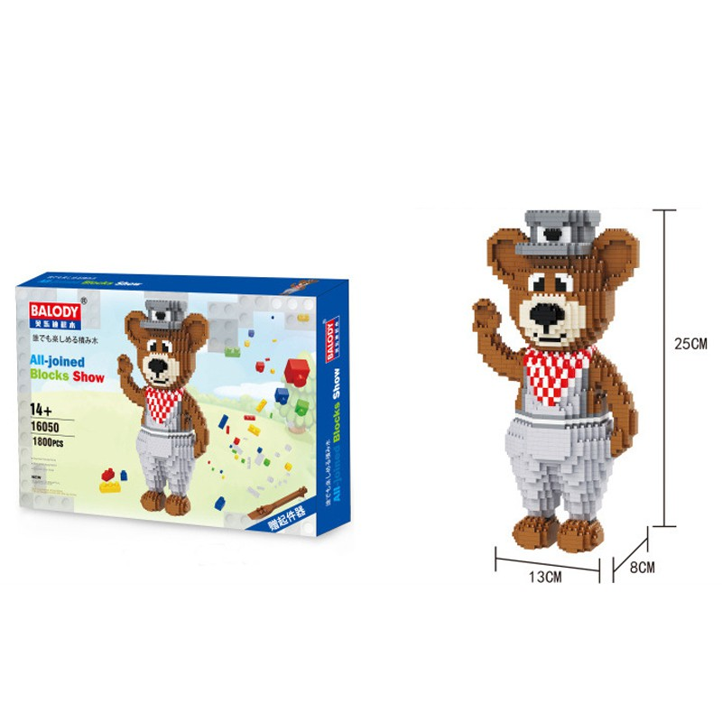 Balody 16050 Brown Teddy Bear Animal DIY Diamond Mini Building Nano Block Toy
