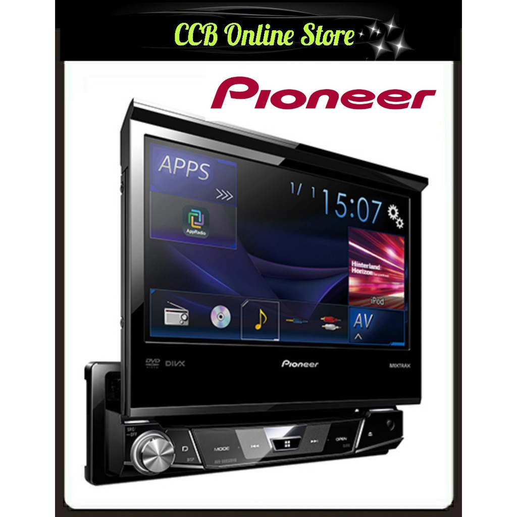 PIoneer AVH-X6850DVD 7' Single DIN Indash Flip Open DVD USB Car AV Receiver