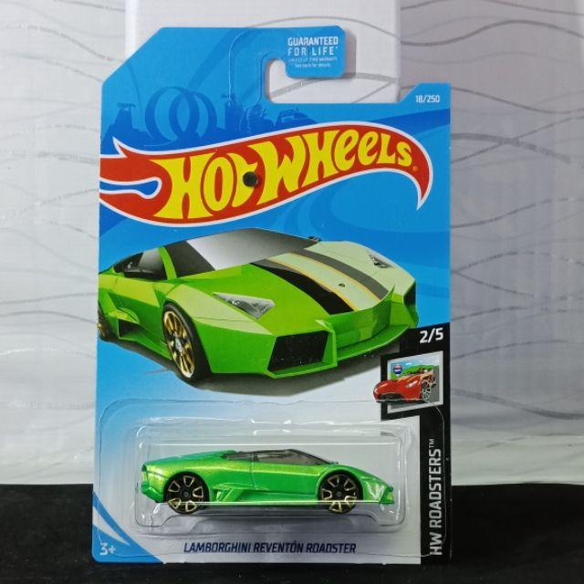 Hotwheels Lamborghini Reventon Roadster Green Shopee Malaysia