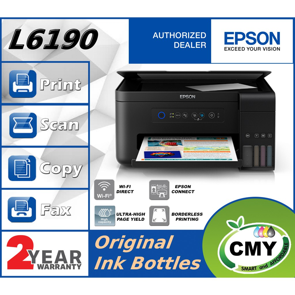 Epson L6190 WiFi Duplex AIO Ink Tank Printer with ADF function