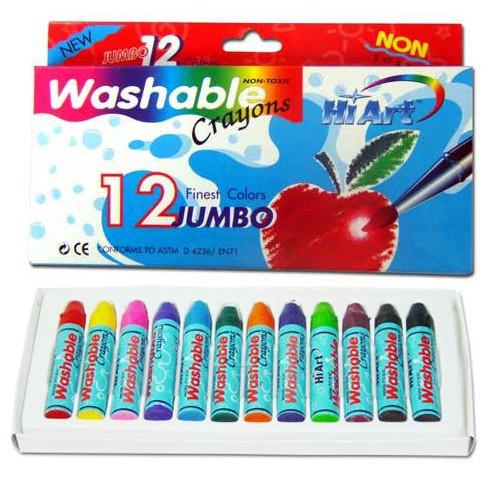 สีเทียน Kid Art ล้างออกง่ายขนาดจัมโบ้ 12 แท่ง (Kid Art Jumbo Washable Cra