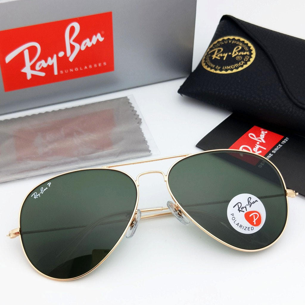 7bca18ba6b Genuine Ray Ban Aviator RB3025 W0879 Gunmetal.