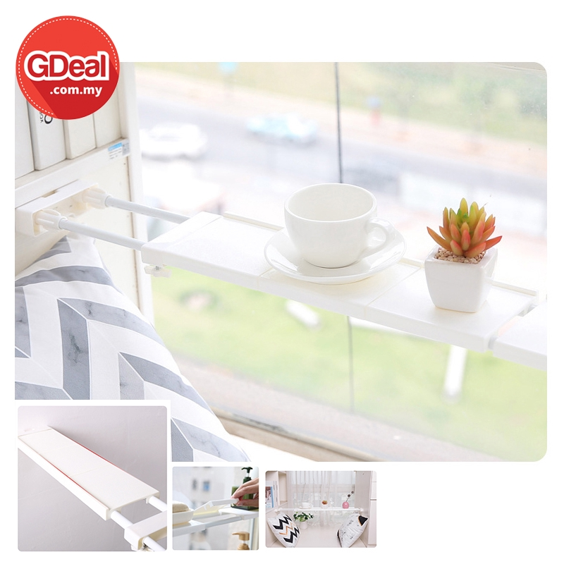 GDeal 38-55cm Retractable Partition For Window Kitchen Adjustable Rack Layer Rak Boleh Laras رق بوليه لارس
