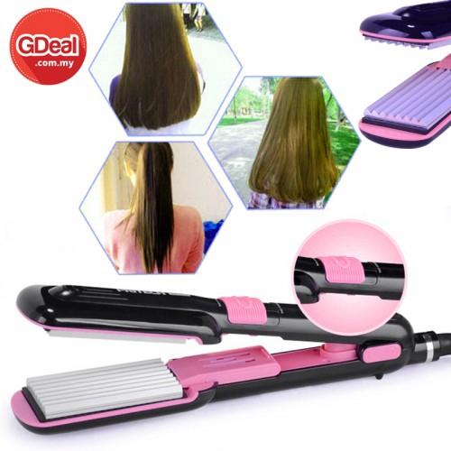 GDeal 2-In-1 Hair Straightener Plate Perm Flat Iron Hair Curler Curling (TA-934)