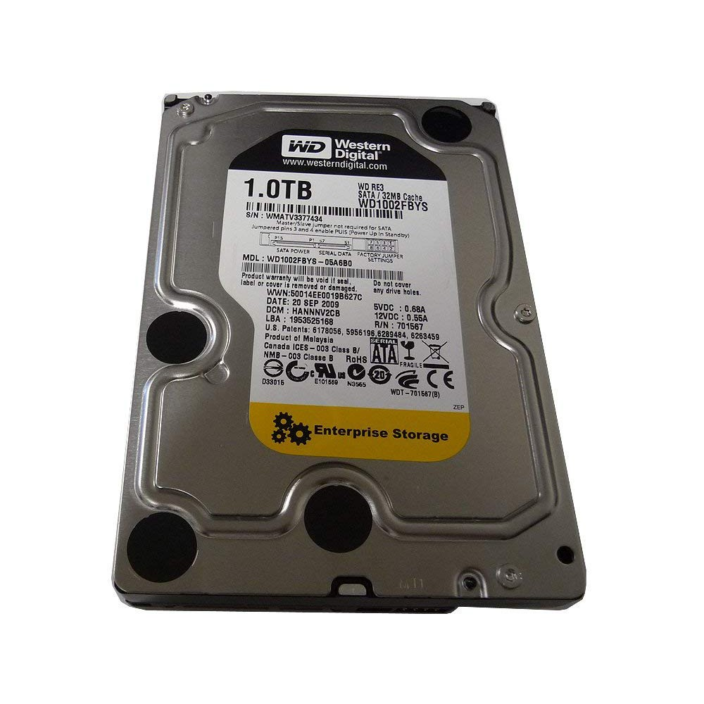 Western Digital WD RE3 WD1002FBYS 1TB HDD SATA 3 5