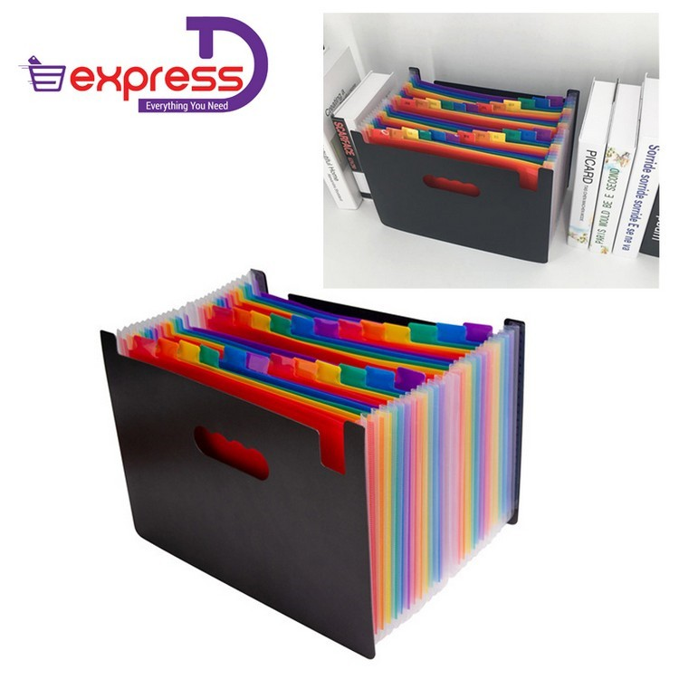 56032ec001d1 Expanding File Folder Document Organizer For A4 Paper With High Capac 24  Pockets