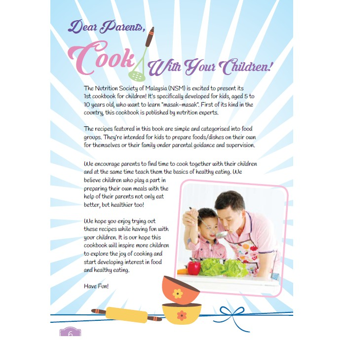 READY STOCK] JUNIOR CHEF COOKBOOK LET'S PLAY HEALTHY COOKING