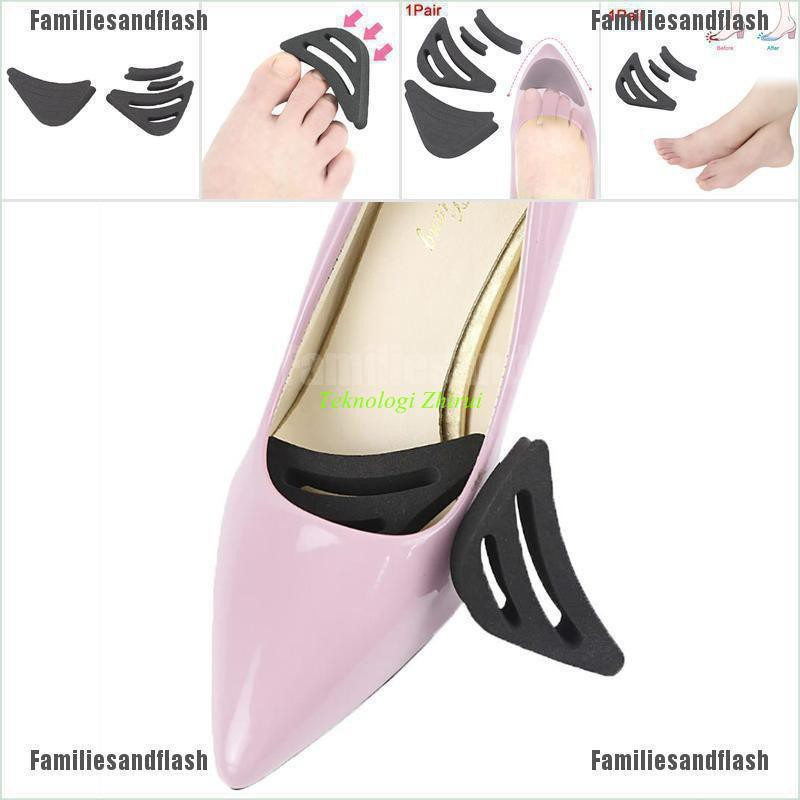 1Pair High Heel Half Forefoot Insert Toe Plug Shoes Toe Front Filler Non-slip ZY