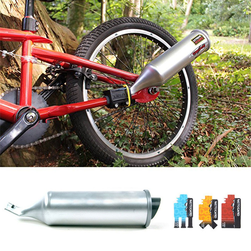 Bike Bicycle Turbo Pipe Exhaust System Sound Motorcycle Megaphone Powerful Set