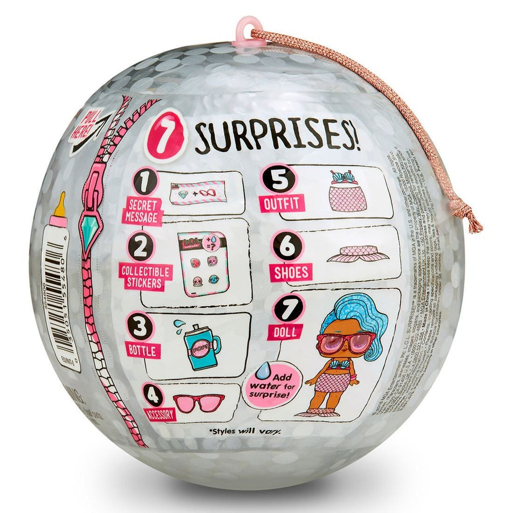 LOL Surprise Bling Series Ball Glam Glitter Doll 7 Surprises Holiday Exclusive