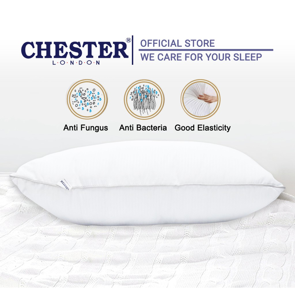 Chester London Pearl Pillow 1pc Ready Stock / Bantal Hotel