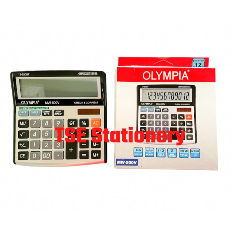 *Original* Olympia Calculator MW500V (12 Digits) MW-500V MW 500 V 112 Steps