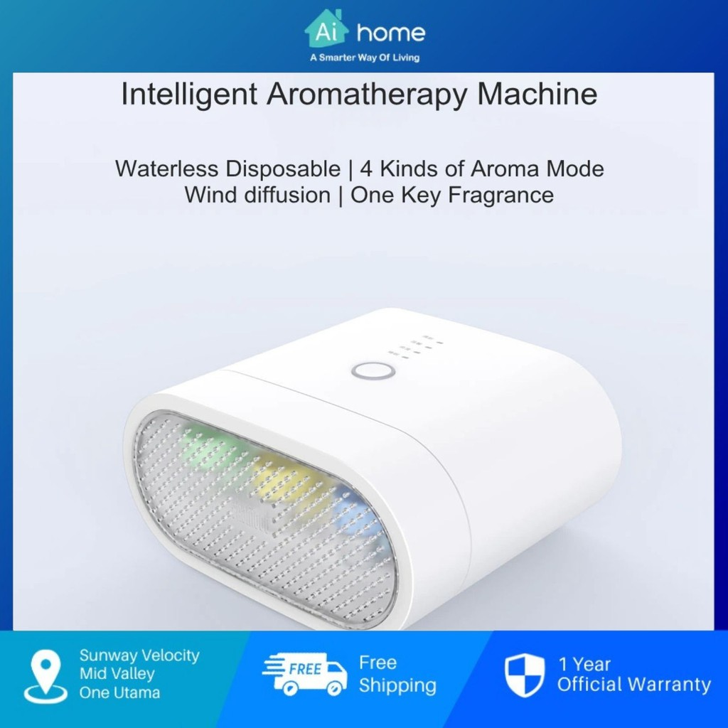 SHAMOOD Smart Aromatherapy Machine YF-A01 - Waterless Disposable | 4 Kind of Aroma Mode | Wind Diffusion [ Aihome ]