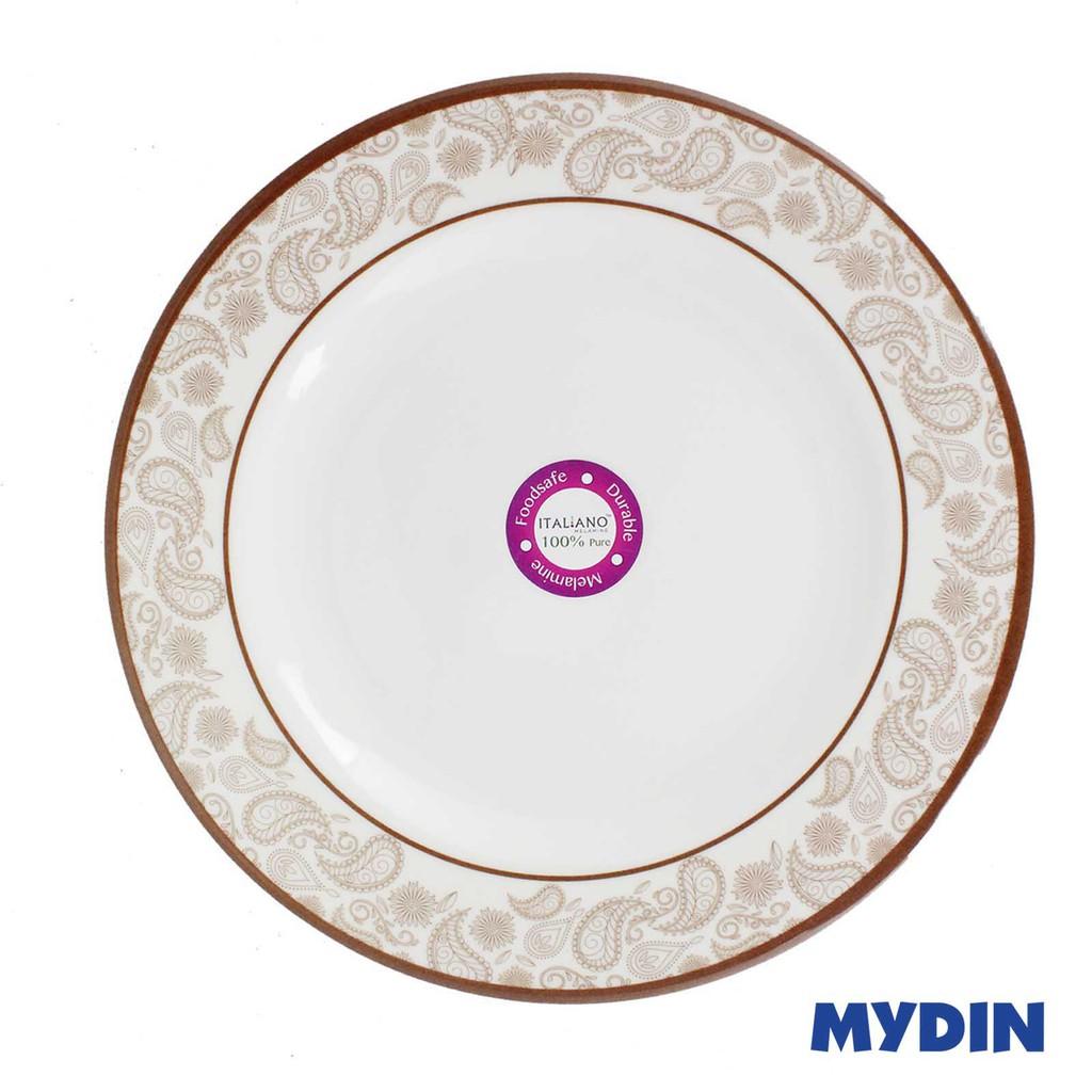 "Italiano Melamine Flat Plate 10"" 100% Pure GL919113"