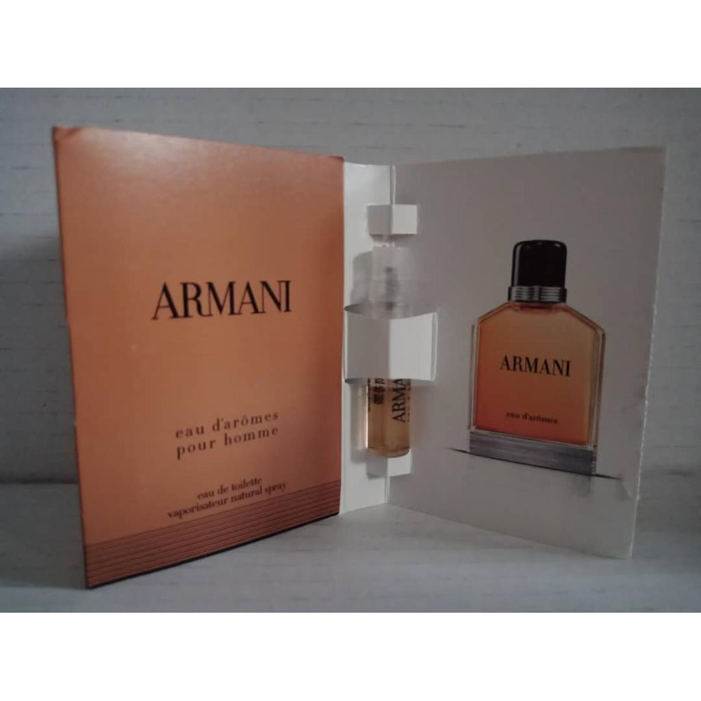 511d74d99b VIAL PERFUME 1-2ML ARMANI EAU D'AROMES POUR HOMME