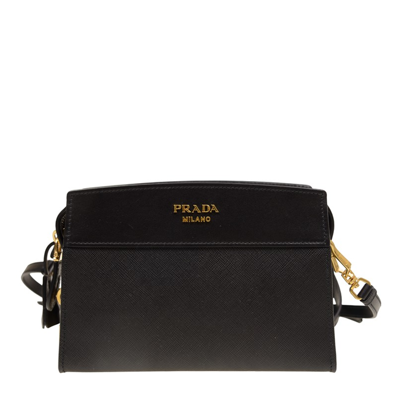 56fb30086874 Prada Calf Leather Camera Bag - Black