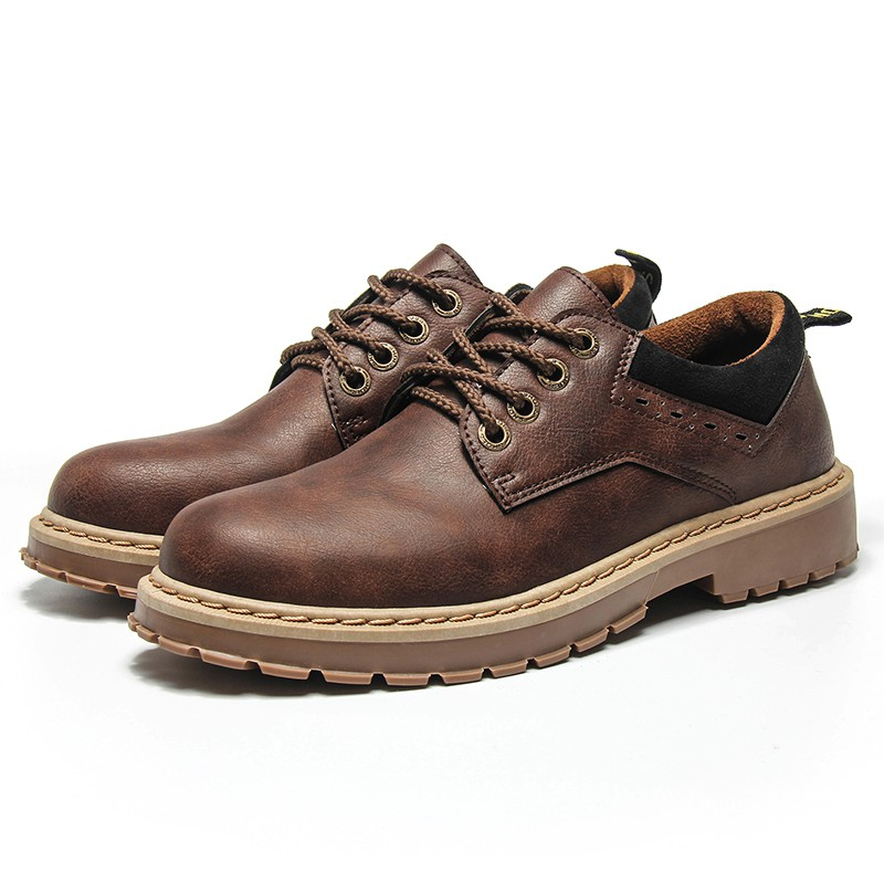 Fashion รองเท้าหนังกลับ รองเท้าผู้ชาย No